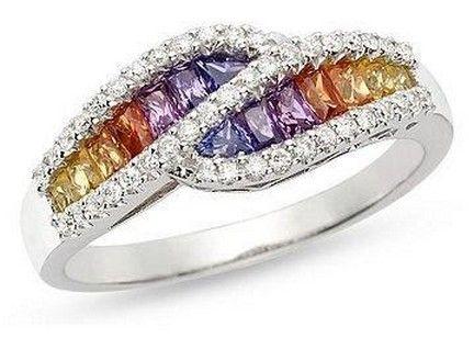 Beautiful Rainbow Wedding Rings Ideas 1 Rainbow wedding theme