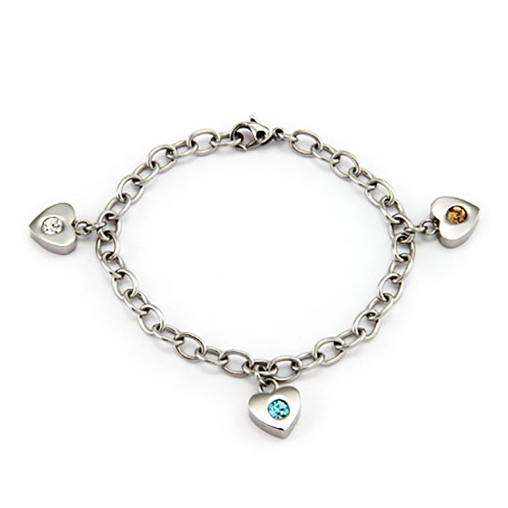 Family Of Hearts Birthstone Bracelets In Sterling Silver Customize With Three Unique Birthstones