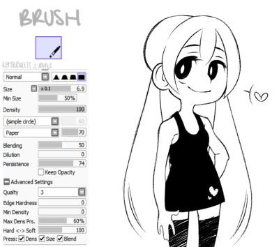 anime inking brush Google Search Painting