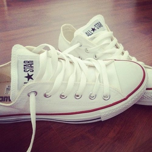 7495ff8581b3 Love my Converse shoes ♥ In white..always have 2 pairs..TE!