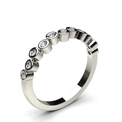 Shop Full Bezel Setting Half Eternity Diamond Ring Online UK with