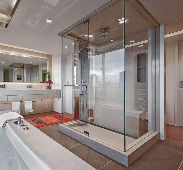 cabine de douche vapeur semble tre une pi ce dans la pi ce salle de bain bathroom. Black Bedroom Furniture Sets. Home Design Ideas