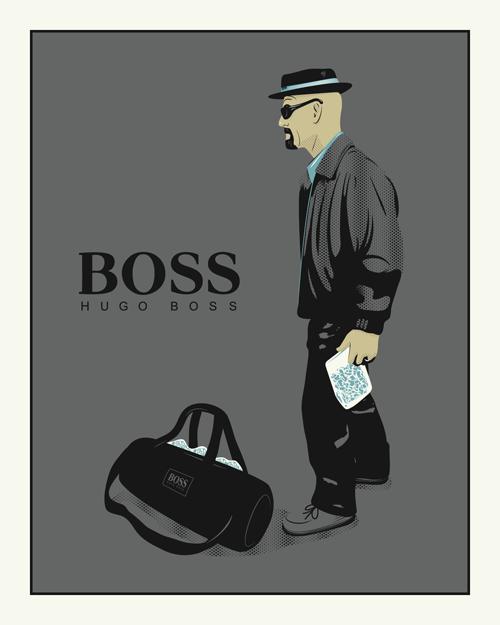 """Breaking Boss"" by Lifeversa. 16″ x 20″ 4-color Screenprint. Ed of 50 S/N."