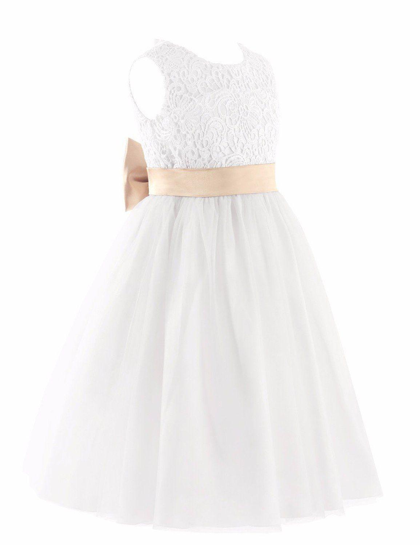 dc41c6924 iEFiEL Vestidos de Princesa de Fiesta de Ceremonia Vestido Floreado para  Niña Espalda al Aire Blanco