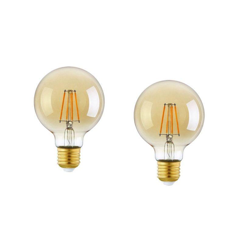 Ampoules Filament Led Globes 80mm E27 300lm équiv 40w