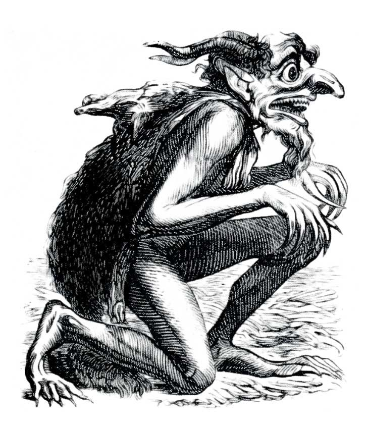 Eurynome~ mother of creation in some myths, titan of water-meadows & pasturelands in others and allegedly the birther of the three Charites by Zeus.  She is revered in some religions and demonized in others~ (The Demon Eurynome from the 1818 Occult Book The Dictionnaire Infernal @ Vintage Fangirl)