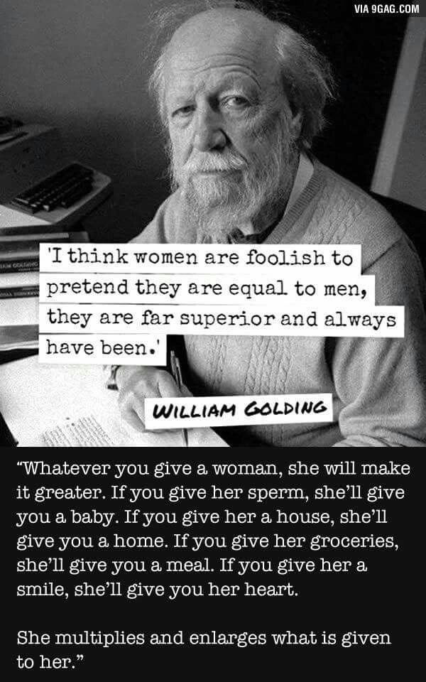 Women Woman She Her Girl Superior William Golding