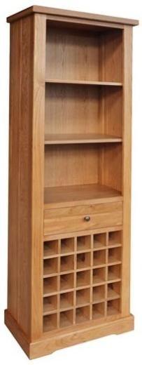 add wine rack into bookcase idea