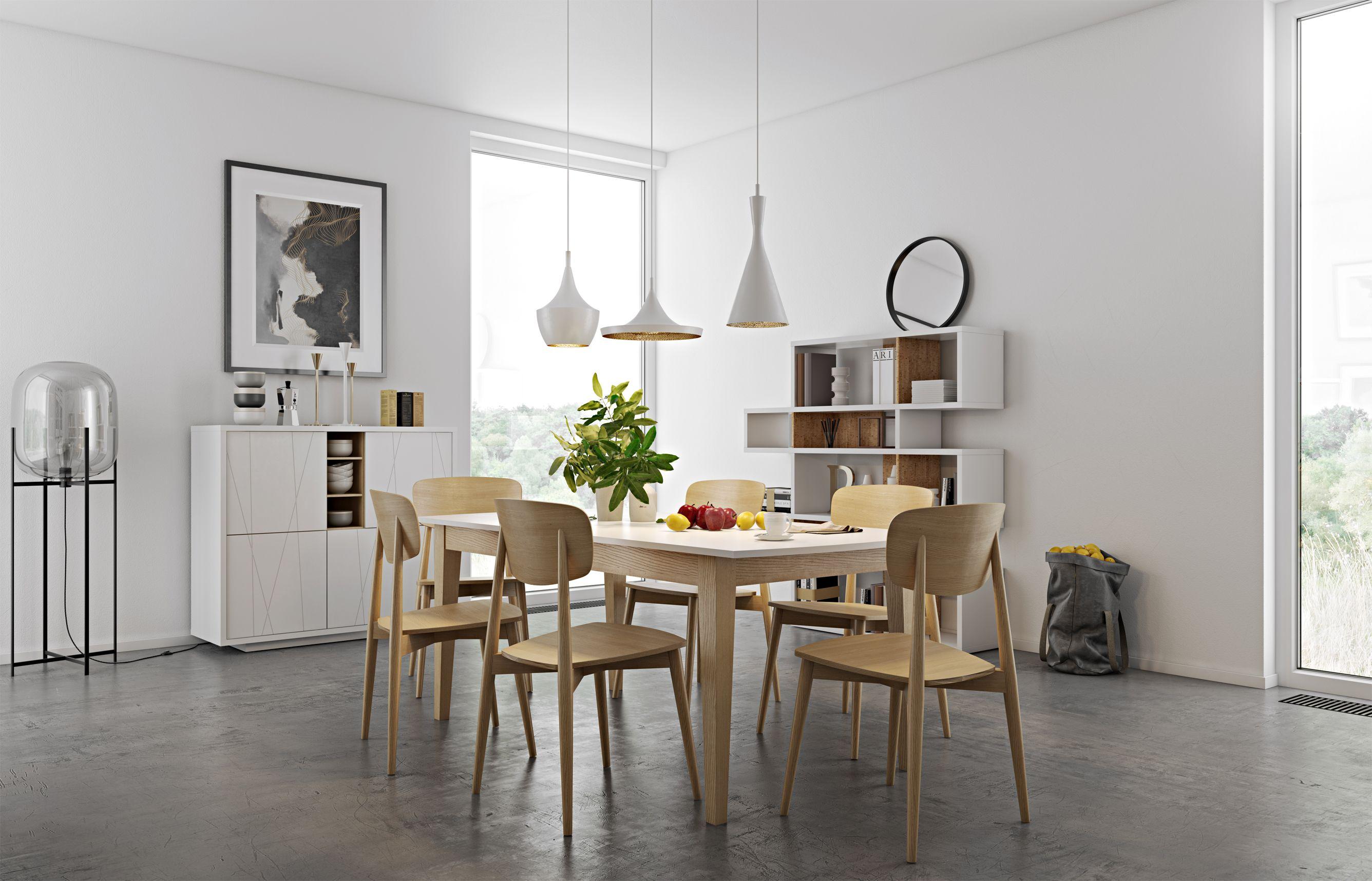 Ispirazione per una cucina nordica in legno chiaro e