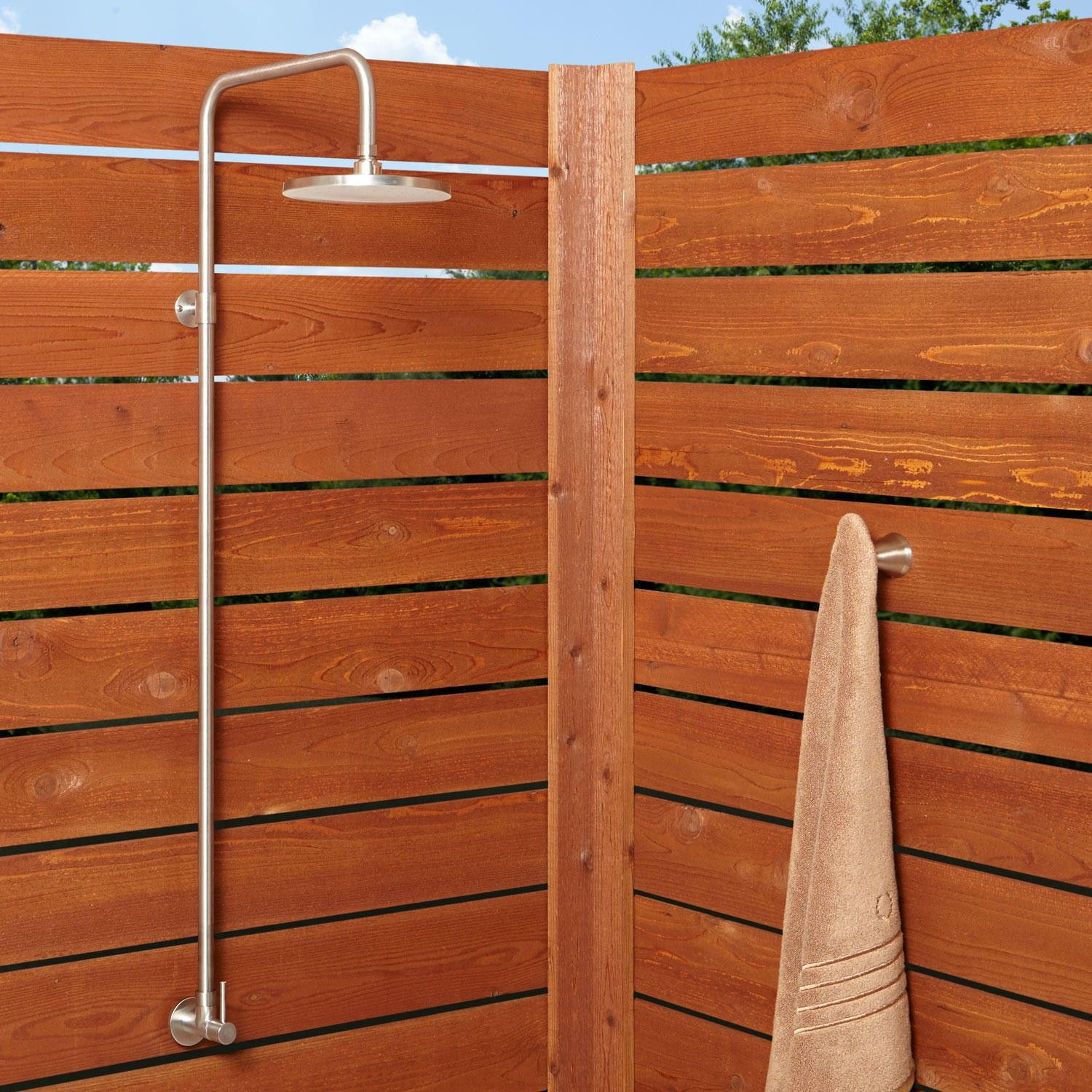 Stainless Steel Exposed Outdoor Shower From Signature Hardware