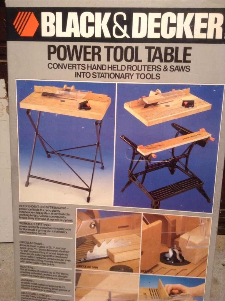 Image result for black and decker power tool table | Tool ...