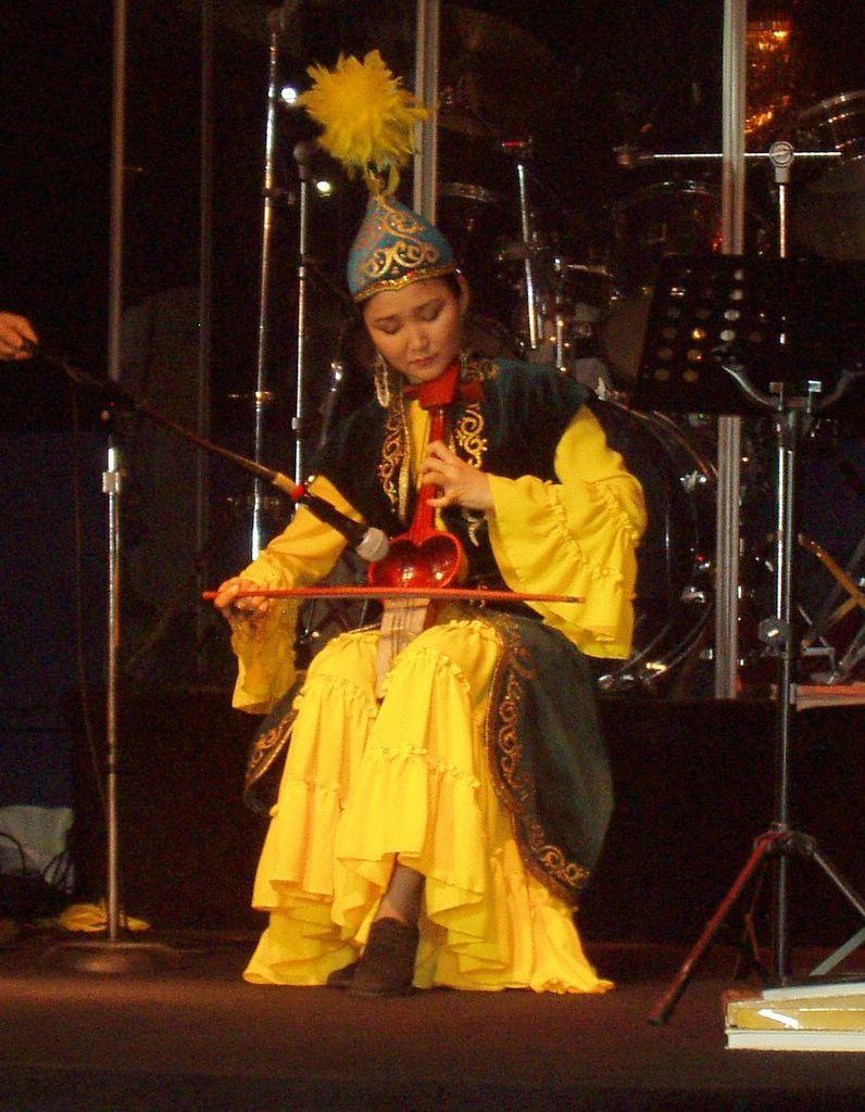 kazakh traditional musical instrument kobyz   traditional musical