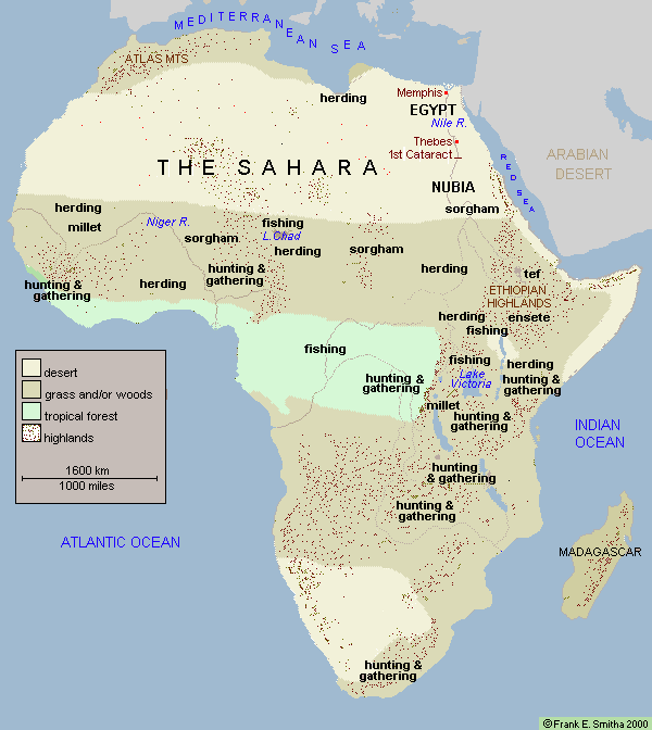 map of early africa Early Agriculture And Herding In Northern Africa Africa Map map of early africa