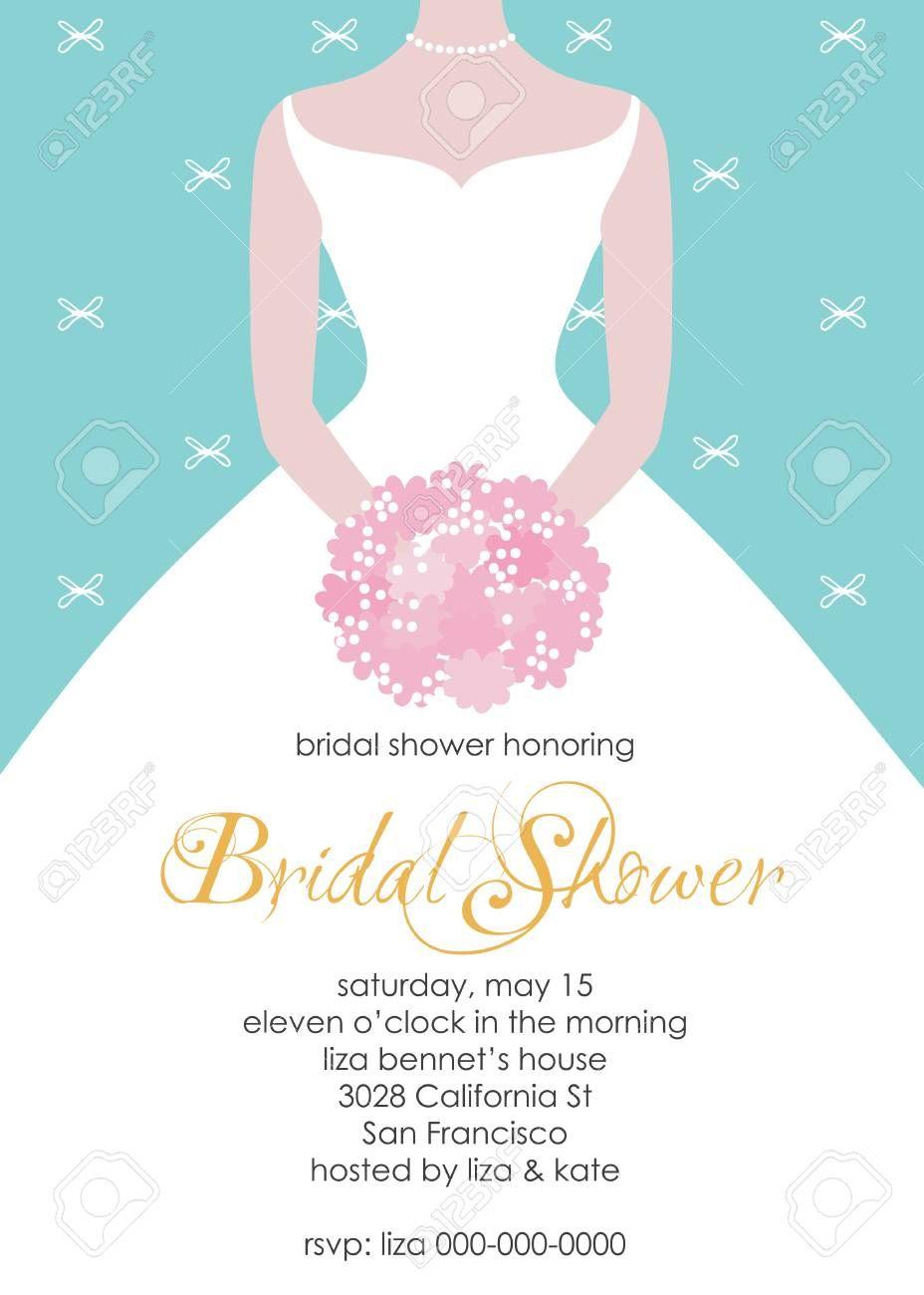 Bridal Shower Invitation Template Wedding Fashion Vecto In 2020 Bridal Shower Invitations Printable Bridal Shower Invitation Cards Bridal Shower Invitations Templates