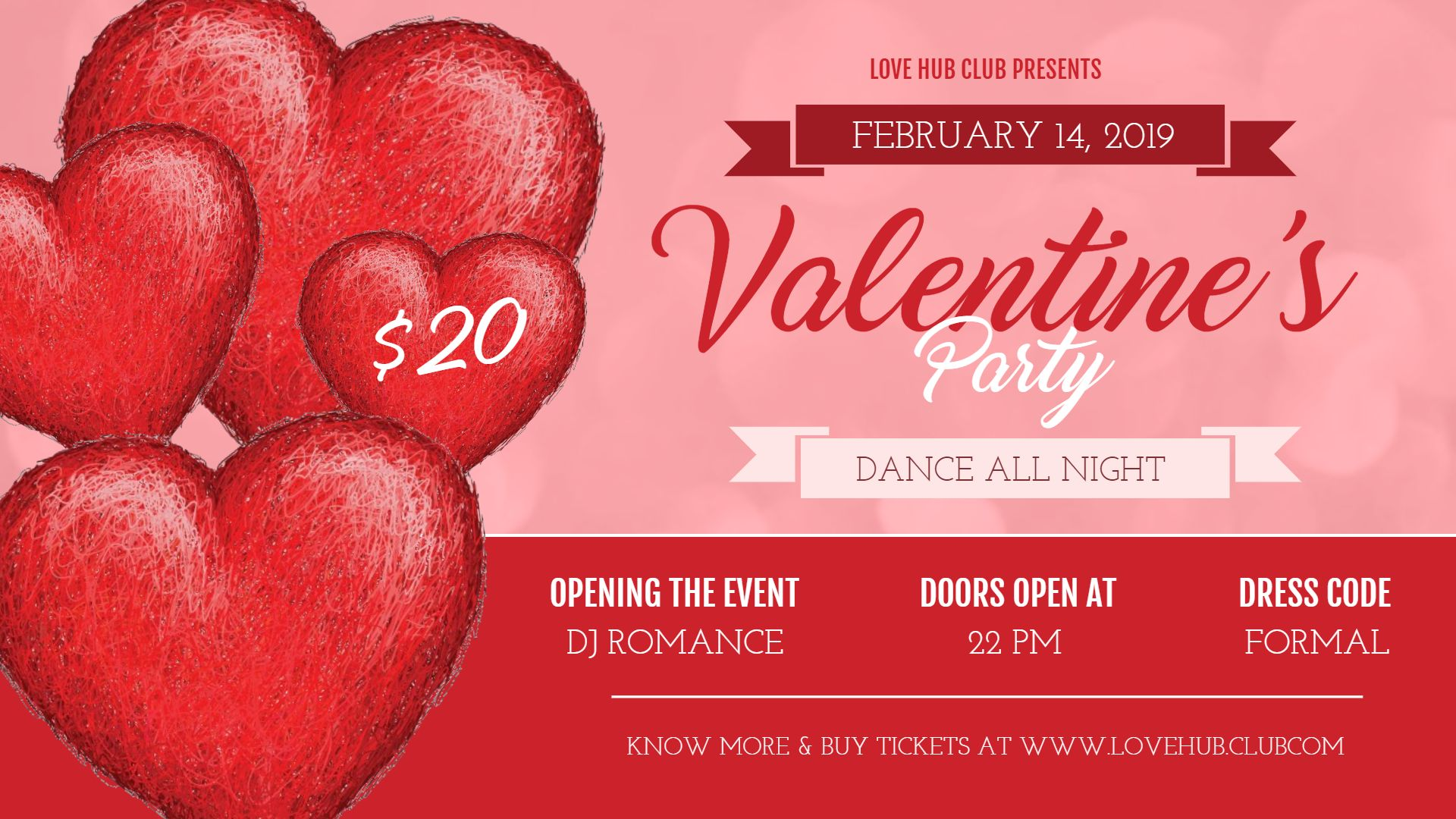 Valentine S Day Party Invitation Poster Banner Template Valentines Party Valentine Poster Valentines Day Party