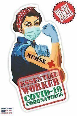Essential Nurse Sticker in Short Brown Hair #fashion #home #garden #homedcor #de... | 1000