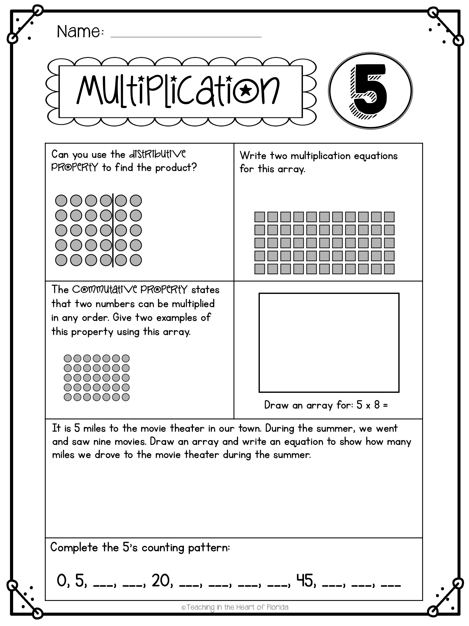 Multiplication Worksheets Multiplication Facts 1 12 In 2020