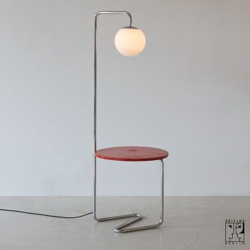 Bauhaus Bogenleuchte mit integriertem Tisch Bild 2