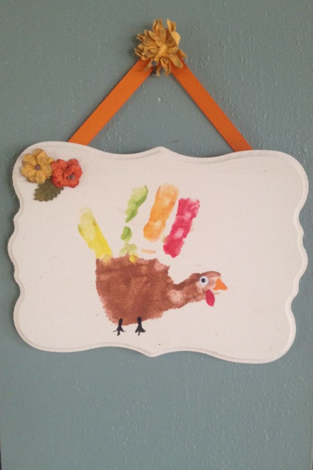 Thanksgiving Handprint Craft For Toddlers