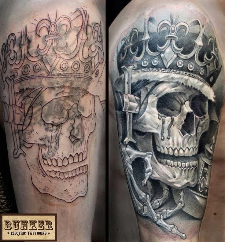 Las 100 Mejores Ideas Para Cubrir Un Tatuaje Cubierta De Tatuajes Tatuajes De Arte Corporal Craneos Tattoo