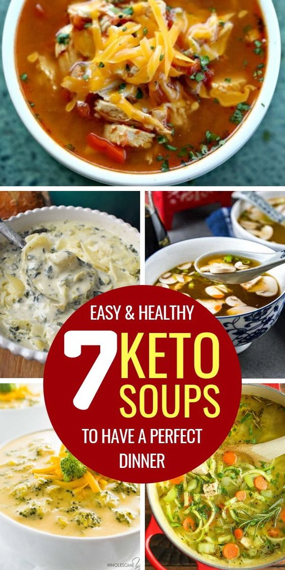 7 Keto Soups To Have A Perfect Dinner #health #fitness #nutrition #keto #ketogenic #ketodiet #diet #...