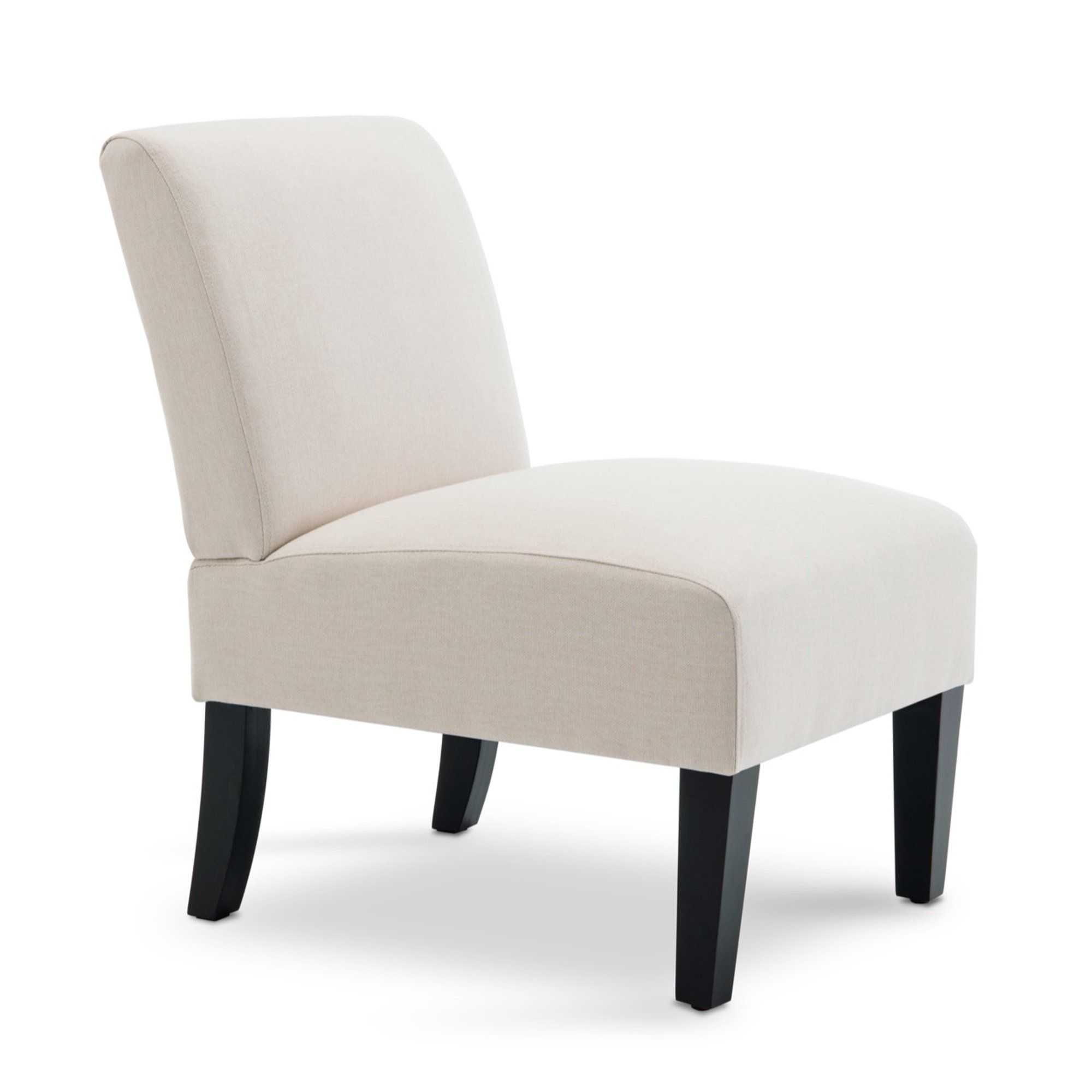 Belleze armless contemporary upholstered single curved