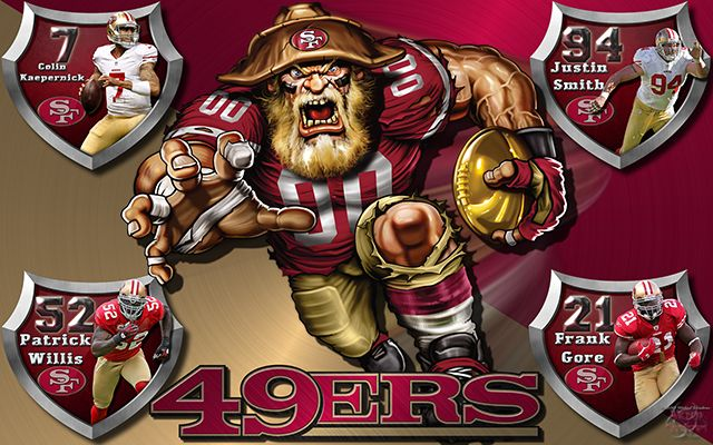 49ers Crazy Logo Shield Players Wallpaper Niners Girl