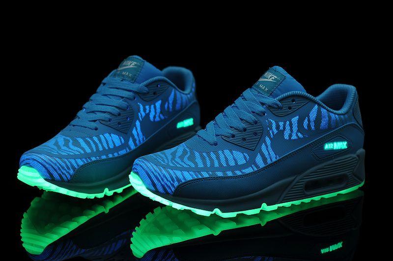 nike air max 90 blue glow