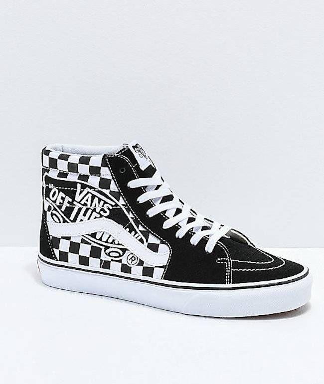 Vans Sk8 Hi Checkerboard Vans Patch