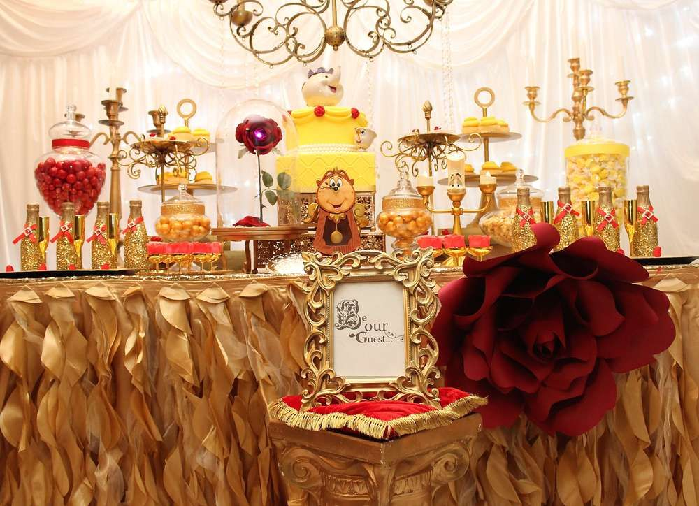 Belle / Beauty And The Beast Birthday Party Ideas. The ShowerElegant Baby  ...
