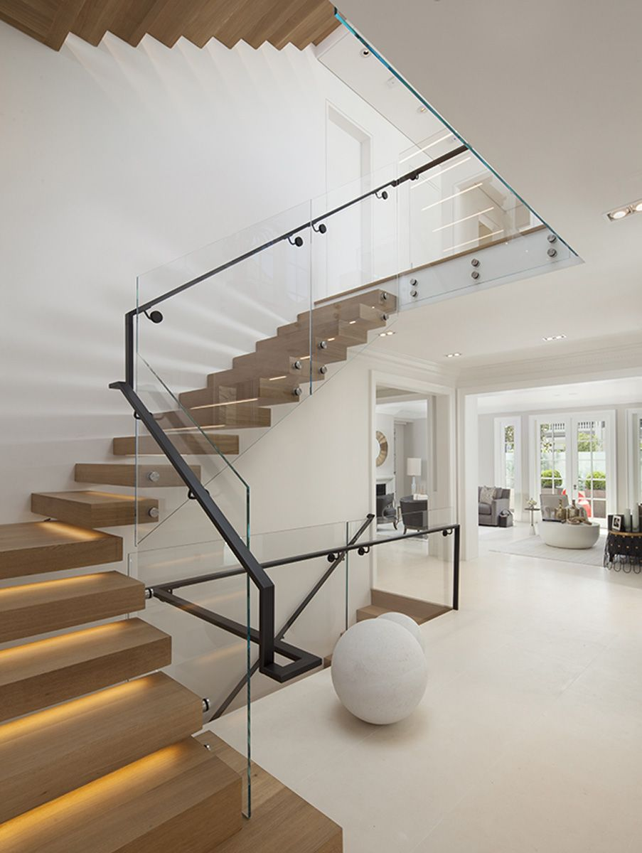 Vallejo Street Staircase Design Modern Staircase Glass | L Shape Stair Design