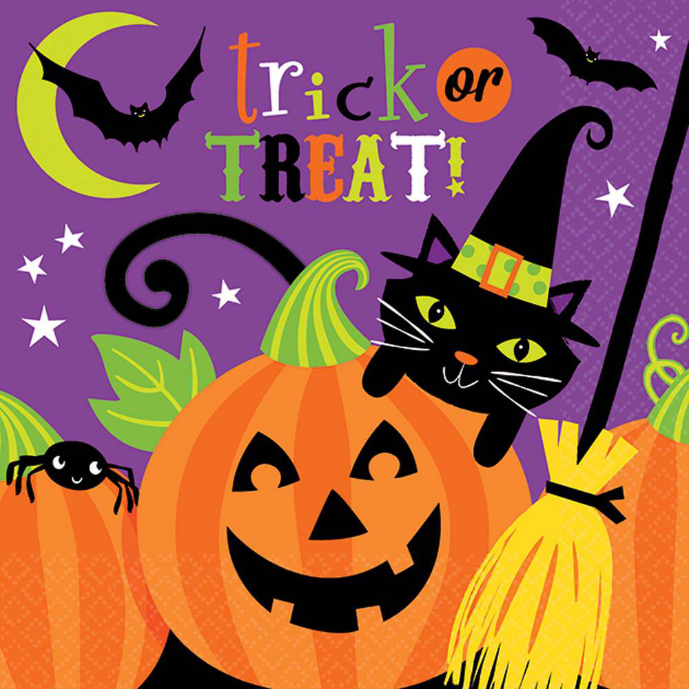 Amscan 5 in. x 5 in. Witch's Crew Beverage Napkins (36