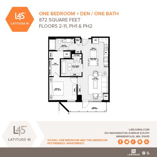 1 Bedroom Apartments Minneapolis: One Bedroom + Den/One Bath