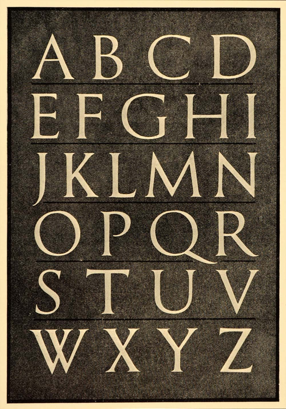 1933 Roman Alphabet Font Typeface Trajan Column Print ...
