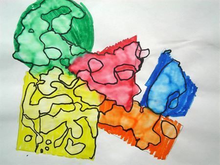 geometric shapes to free form shapes lesson plan space to create