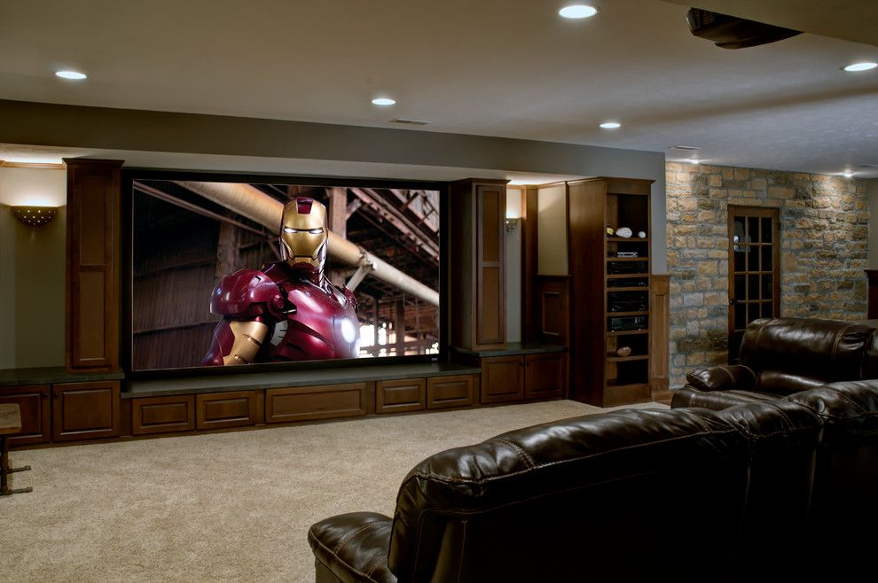 Stunning Sports Memorabilia Decorating Ideas For Ravishing - Built in media center designs