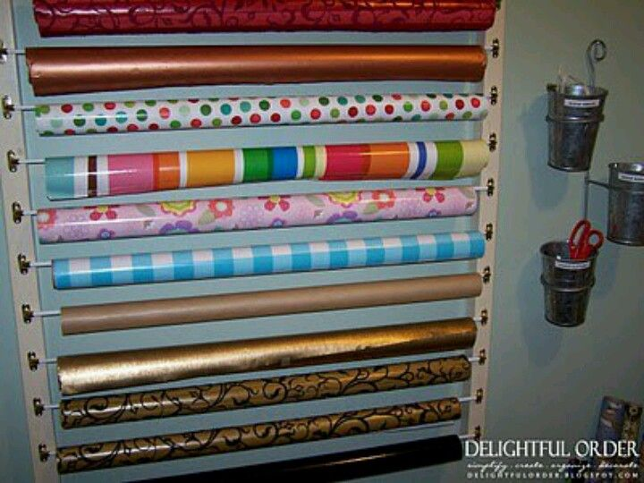 Organize your wrapping paper