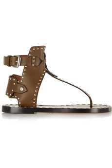 Isabel Marant Johanna studded leather sandals | NET A PORTER