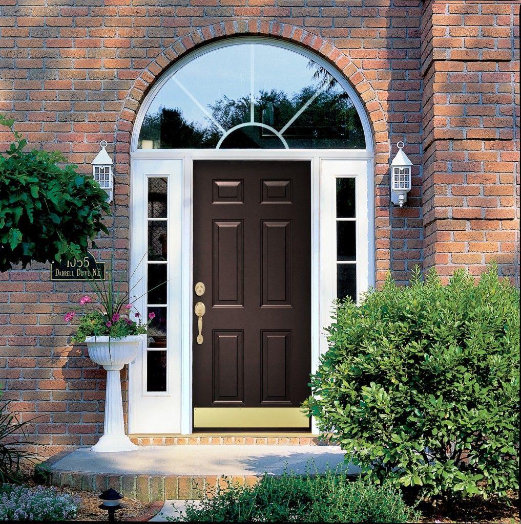 Pictures of front doors with storm doors - Provia Rustic Bronze Legacy Steel Contemporary Classic Front Door