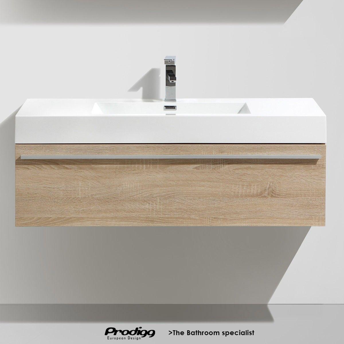 Bathroom vanity 1200 - Acqua Di Zebrak 1200 Mm Wall Hung Vanity With Modern Basin