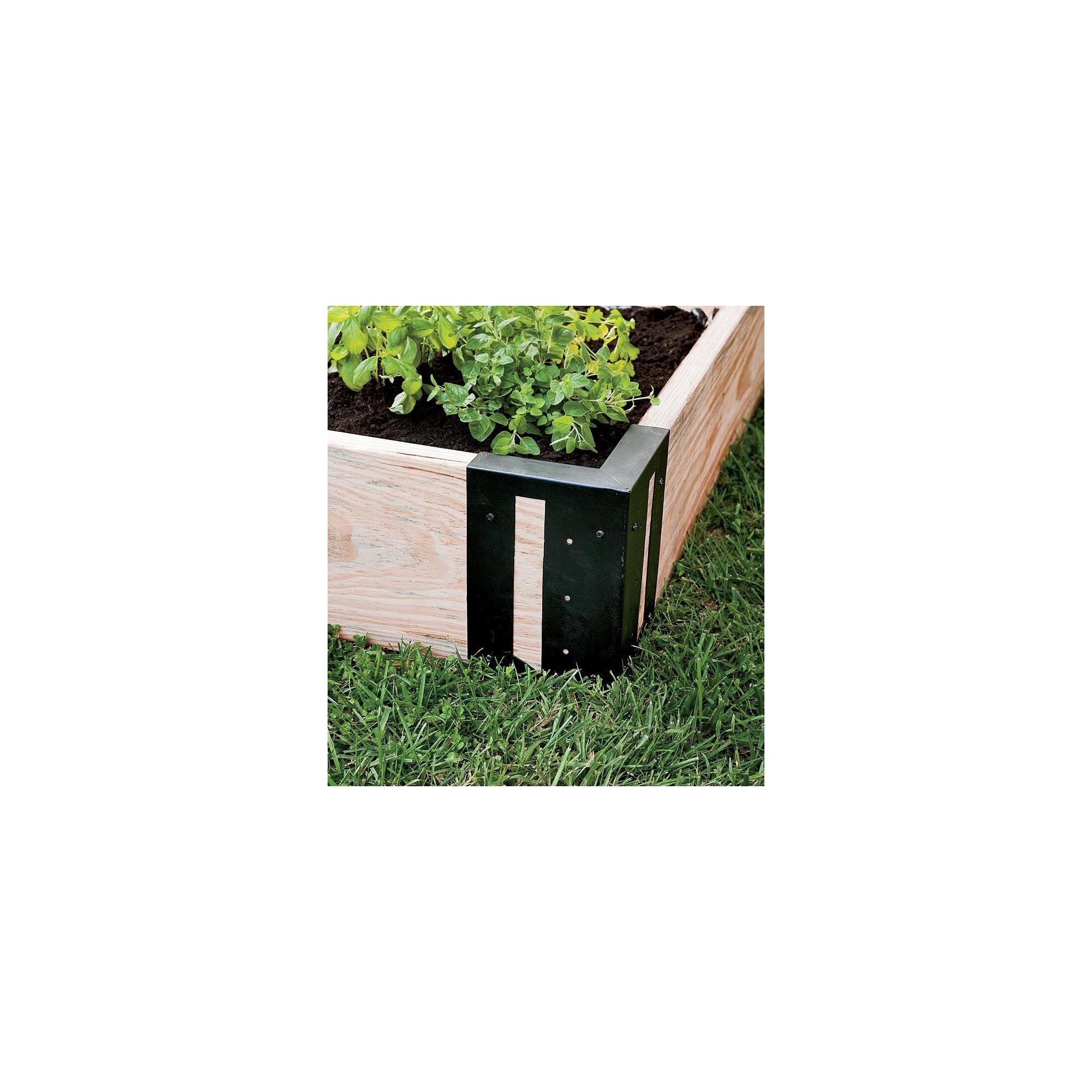 Solid Steel Raised Garden Bed Corner Brackets Set Of 4 Plow
