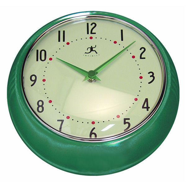 Perfect For Retro Kitchens And Rooms Sporting Diner Decor, This Round Wall  Clock Looks Stunning In Any ...