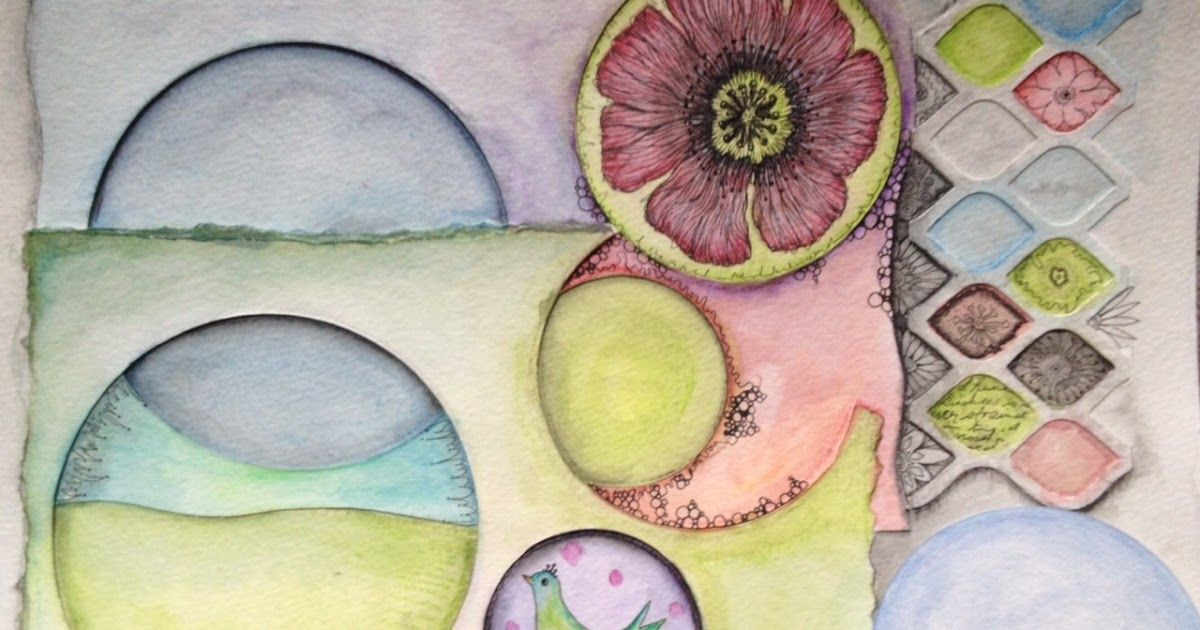 Freckles and Flowers: Lovin' Inktense and Circles