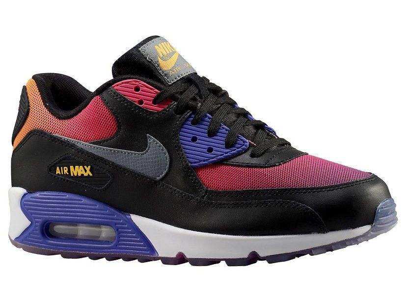 dffa3f4220ffe NEW MENS NIKE AIR MAX 90 RUNNING SHOES TRAINERS BLACK   PERSIAN VIOLET    PINK FO