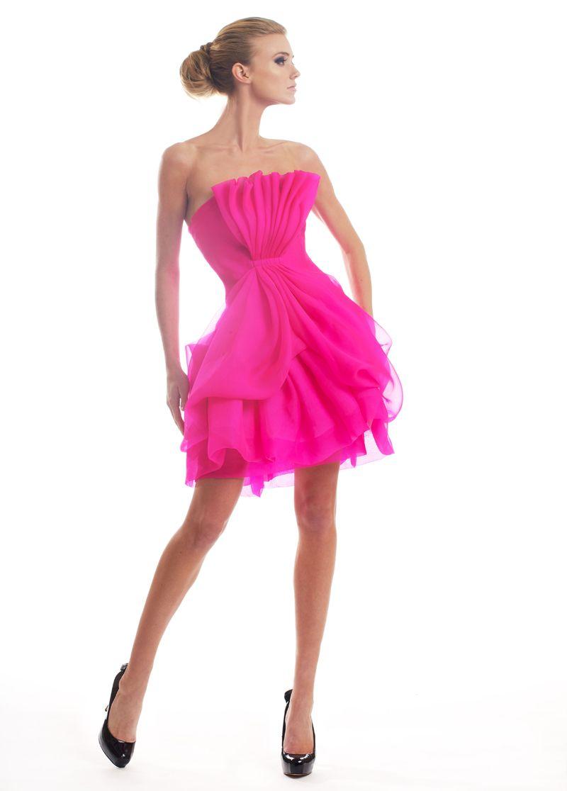 Fuchsia Corset Dress