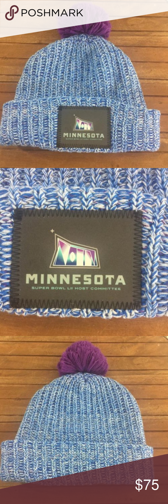 4eedfc23100 Love Your Melon Superbowl 52 Minnesota Host Beanie Minnesota Super Bowl LII  52 Host Committee Crew Beanie Knit Hat Love Your Melon Brand New - Never  Worn ...