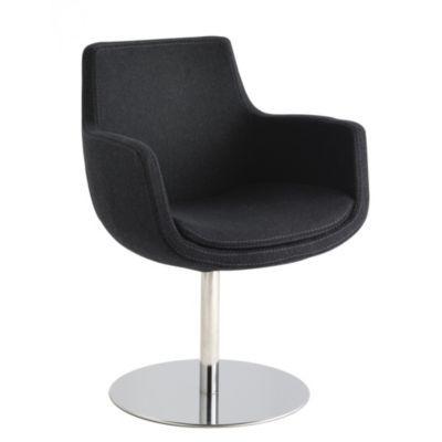 produit uchoose fauteuil pivotant pied rond feutre anthracite th me be design ajout la. Black Bedroom Furniture Sets. Home Design Ideas