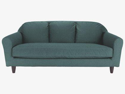 Emlyn Blues Fabric Blue Fabric 3 Seat Sofa Habitatuk Sofa 3 Seater Sofa