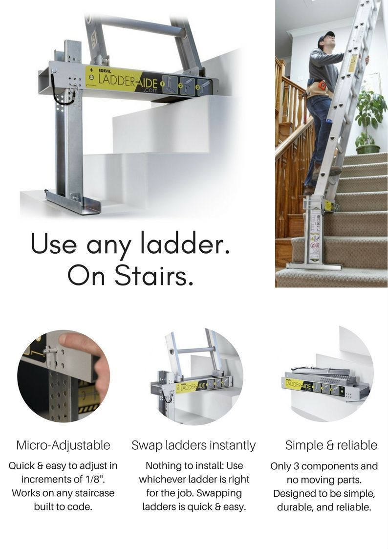 Do you need to use a ladder on the stairs? Wash walls