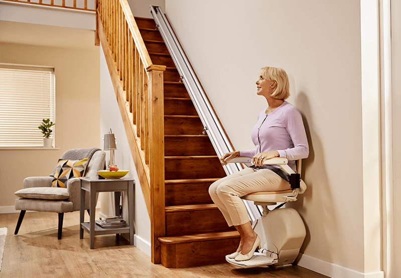 The New Improved Version Of The Original Acorn Stair Lift Special Price As Advertised For 2795 The Acorn 130 Stair Lifts Acorn Stairlifts Straight Stairs